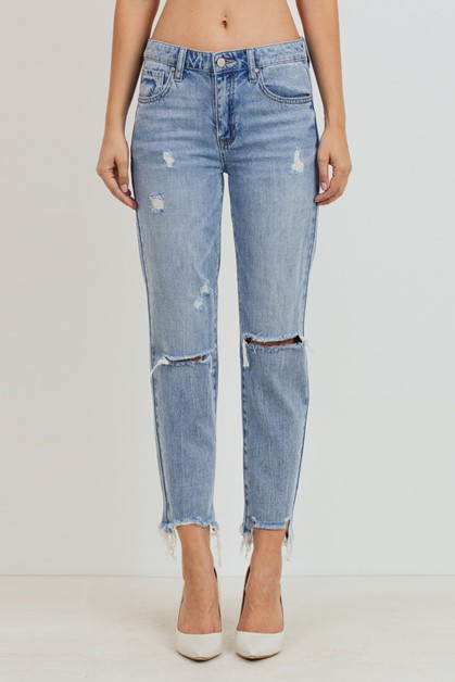 Slim Fit Boyfriend Jeans - orangeshine.com