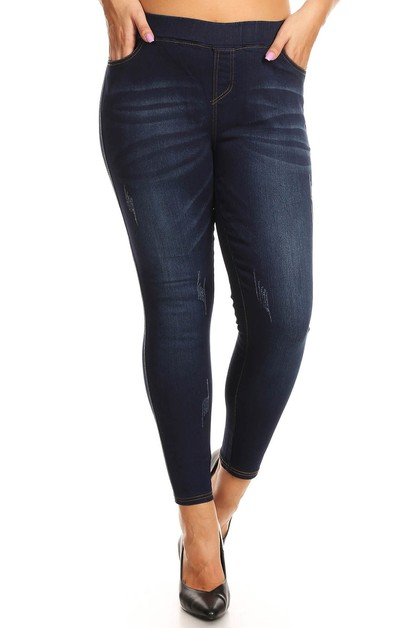 Plus Size Slim Denim Jeans jeggings - orangeshine.com