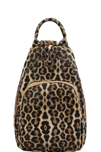 DESIGNER CHIC LEOPARD CUTE BACKPACK - orangeshine.com