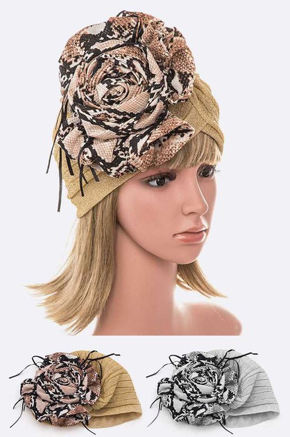 Python Printed Flower Metallic Turba - orangeshine.com