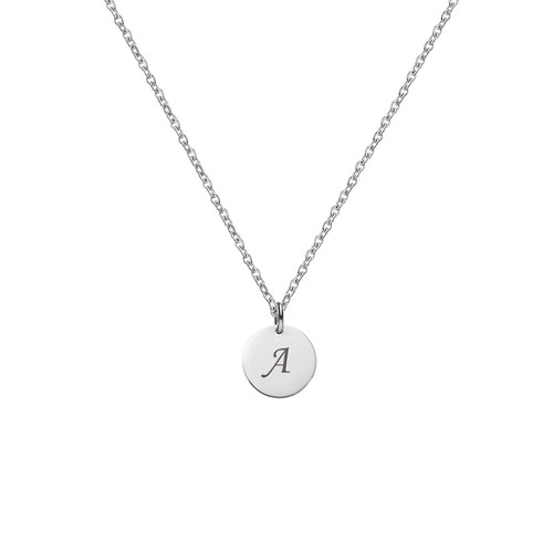 LETTER A INITIAL CHARM NECKLACE - orangeshine.com