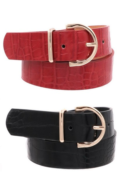Crocodile Buckle Belt - orangeshine.com