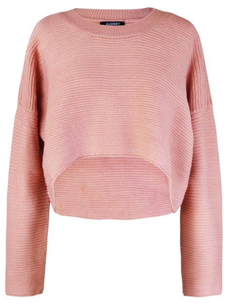 SOLID HIGH LOW CREW NECK CROP TOP - orangeshine.com