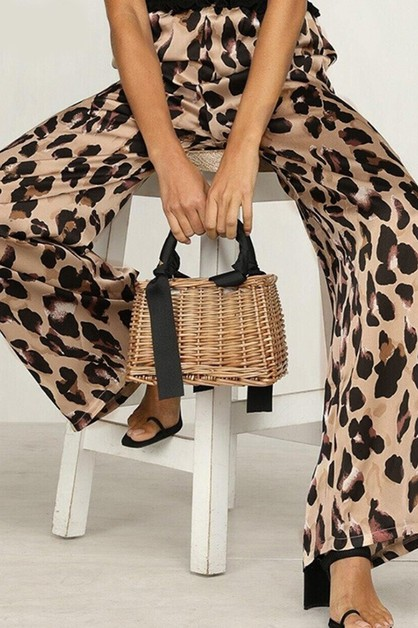 LEOPARD PRINT LONG PANTS - orangeshine.com