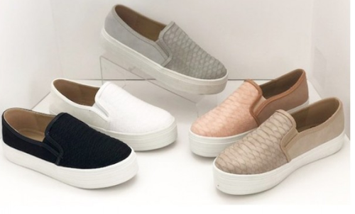 SLIP ON FLAT SNEAKERS - orangeshine.com