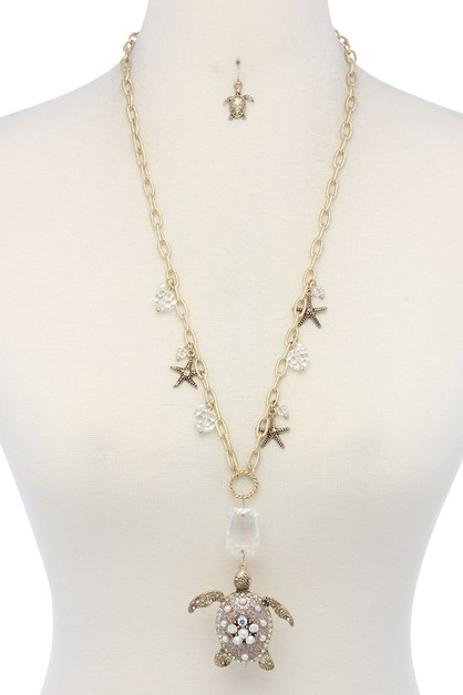 STAR CHARM DANGLE NECKLACE - orangeshine.com