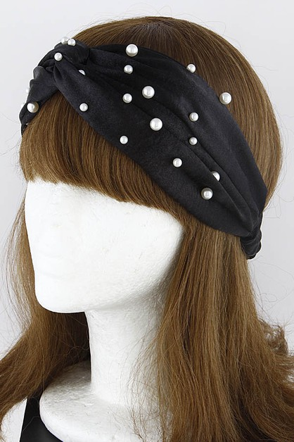 Twisted Faux Pearl Head Band - orangeshine.com