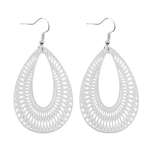 CHEVRON TEARDROP HOOK EARRINGS - orangeshine.com