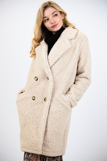 LOOSE FIT SHERPA COAT - orangeshine.com