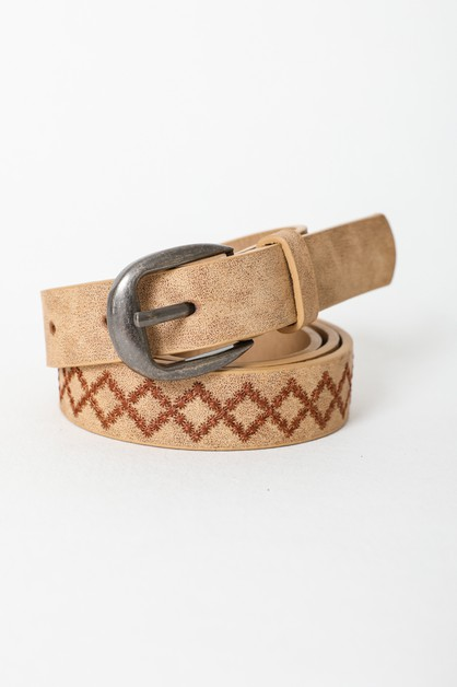 Skinny Punched Out Fashion Belt - orangeshine.com