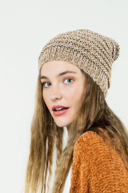 Knit Beanie with Pom Pom - orangeshine.com