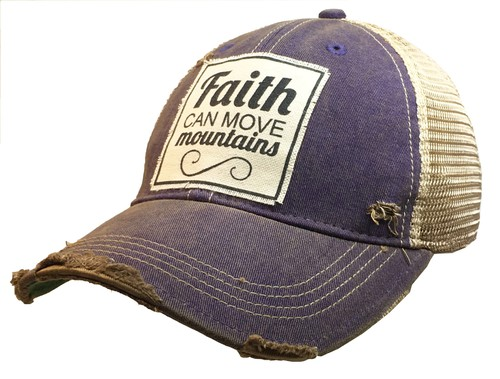 Faith Can Move Mountains Trucker Cap - orangeshine.com