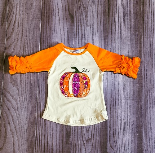 Pretty Pumpkin Raglan - orangeshine.com