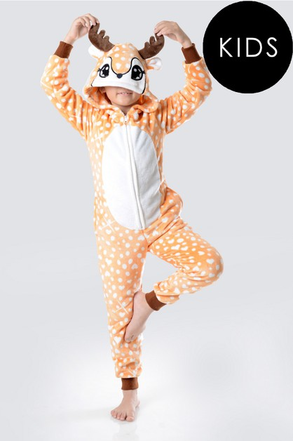 Spotted Heart Reindeer Animal Onesie - orangeshine.com