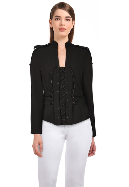 Plus Size Black Gothic Jacket - orangeshine.com
