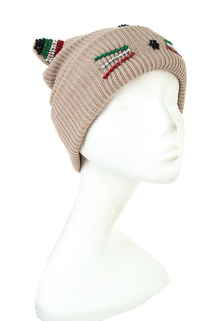 KITTEN ACCENT BEANIE - orangeshine.com