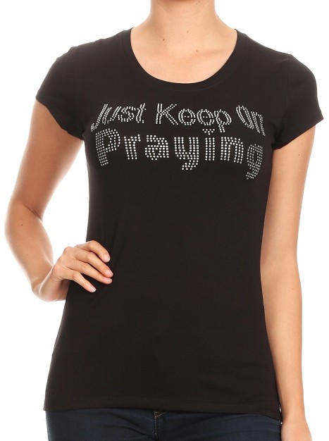 JUST KEEP ON PRAYING  - orangeshine.com