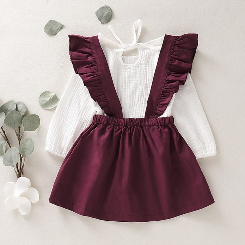 2PC Suspender skirt outfit set - orangeshine.com
