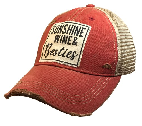 Sunshine Wine and Besties Hat - orangeshine.com