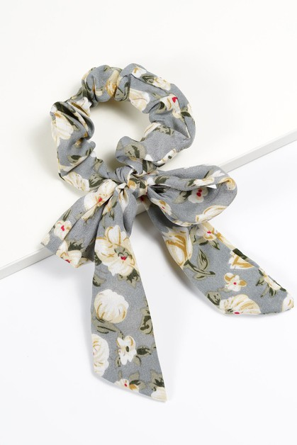Trendy Floral Scrunchies  - orangeshine.com