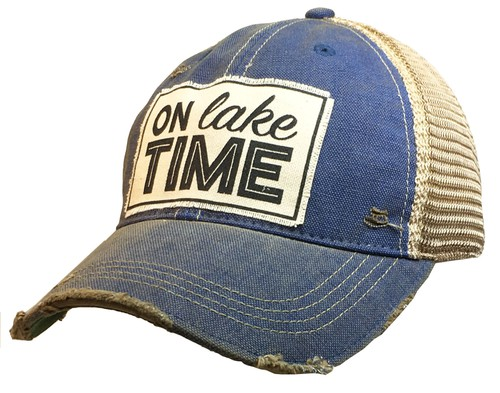 On Lake Time Trucker Hat - orangeshine.com