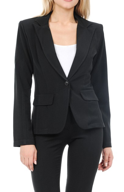 womens basic formal business blazer - orangeshine.com