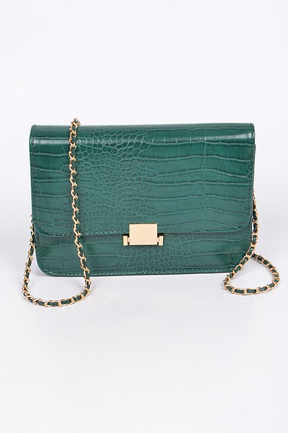 Square Clean Flap Clutch Bag - orangeshine.com