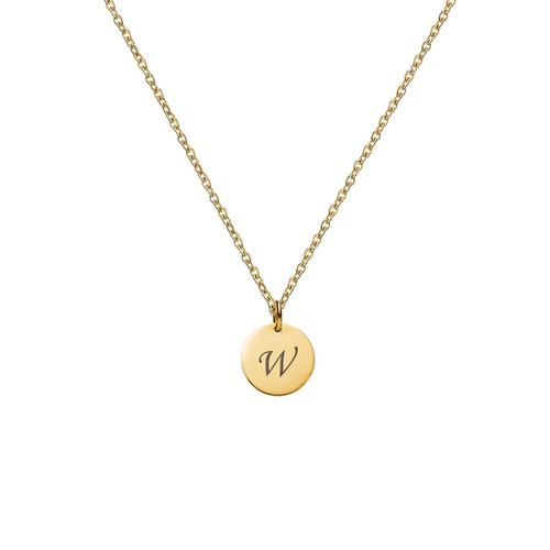LETTER W INITIAL CHARM NECKLACE - orangeshine.com