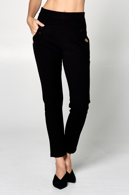 HIGH WAIST SLIM FIT PANTS - orangeshine.com