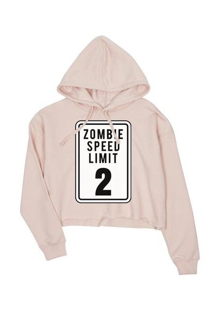 JCH005XX Zombie Speed Limit Crop Hoo - orangeshine.com