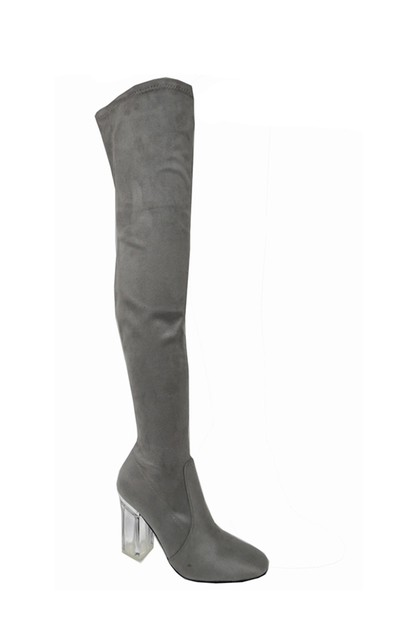Pointed Toe Block Heel Riding Boots - orangeshine.com