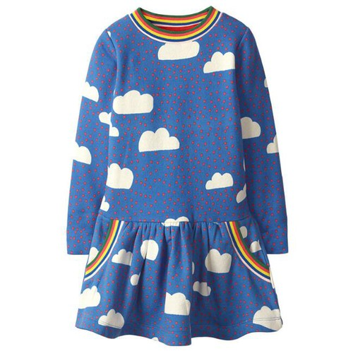 Rainbow Cloud Long sleeve dress - orangeshine.com