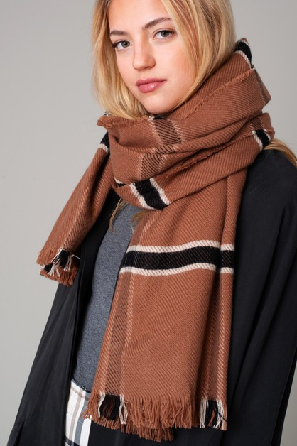 Window Pane Cozy Scarf - orangeshine.com
