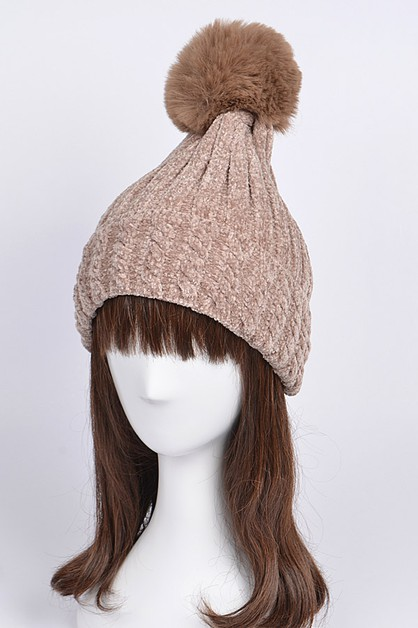 Pom Pom Knitted Hat - orangeshine.com