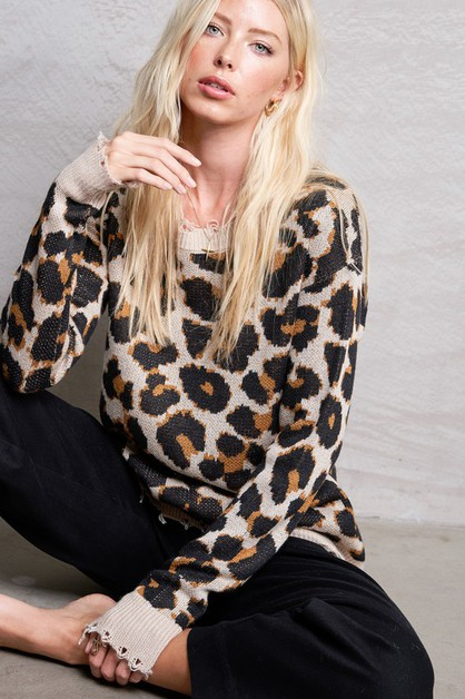 Animal Print Sweater - orangeshine.com