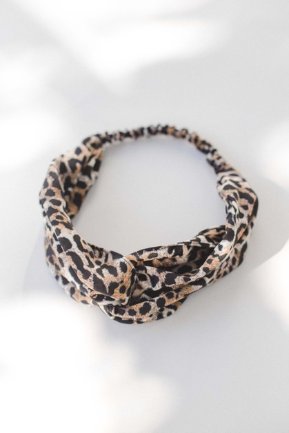Black Yellow Mini Leopard Headband - orangeshine.com
