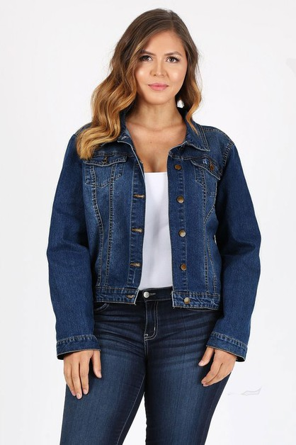 Plus Size Denim Jackets - orangeshine.com