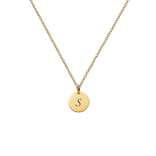 LETTER S INITIAL CHARM NECKLACE - orangeshine.com