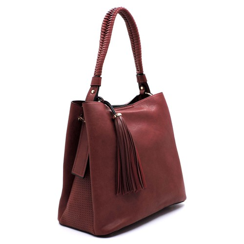 Fashion Tassel Laser Cut  Bag - orangeshine.com