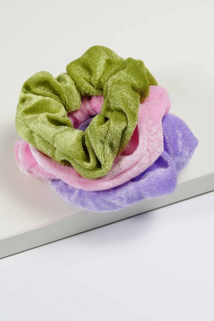 Velvet Assorted Scrunchies  - orangeshine.com