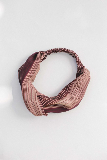 Brown Stripe Headband - orangeshine.com