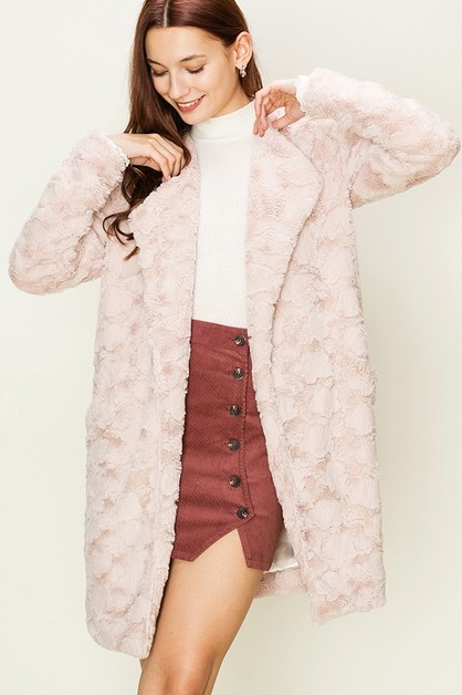 FAUX FUR BLAZER COAT - orangeshine.com