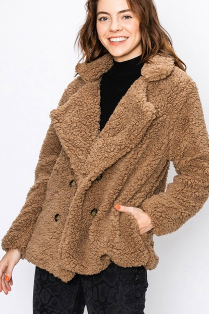 BUTTON UP SHERPA COAT - orangeshine.com