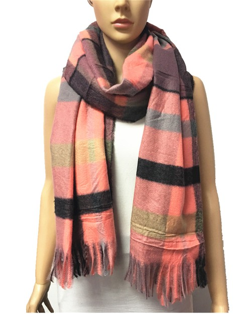 SOFT PLAID SCARF - orangeshine.com