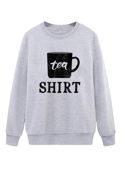 Tea Shirt Crew Neck Sweatshirt - orangeshine.com