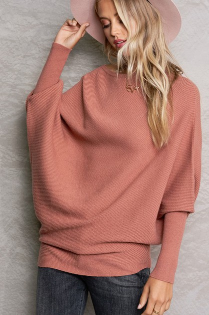 Off Shoulder Knit Tunic - orangeshine.com