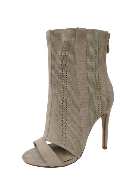 Stiletto Peep Toe Dress Booties - orangeshine.com