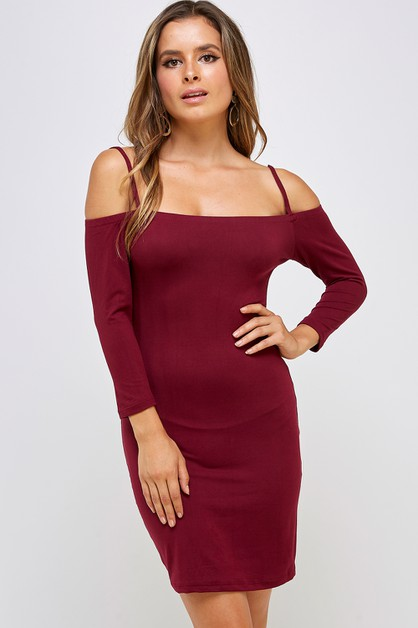 Open Shoulder Dress - orangeshine.com