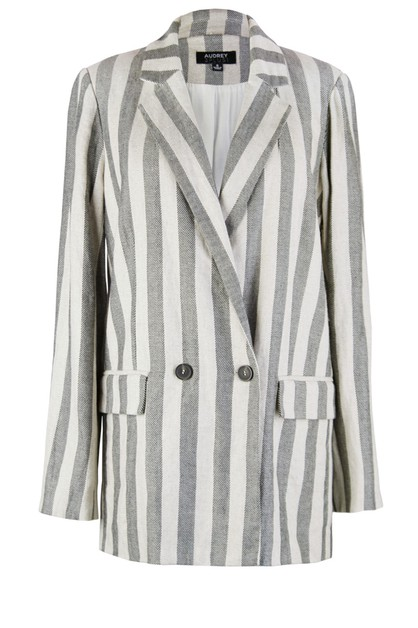 Boss Girl Stripe Blazer - orangeshine.com