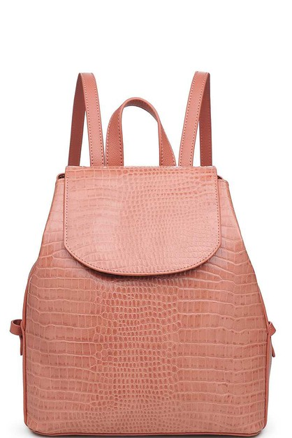 LUXURY CLARA CROCO PATTERN BACKPACK - orangeshine.com